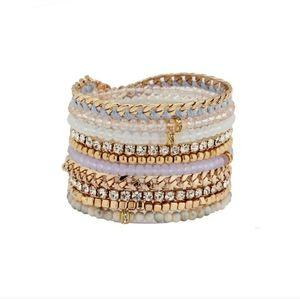 ALDO Blue & Gold Cluster Bracelet